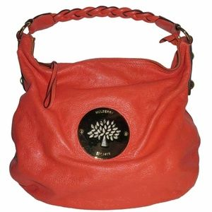 Mulberry Daria Medium Coral Leather Hobo Bag